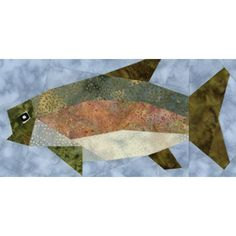 Rainbow Trout Quilt Block Pattern More
