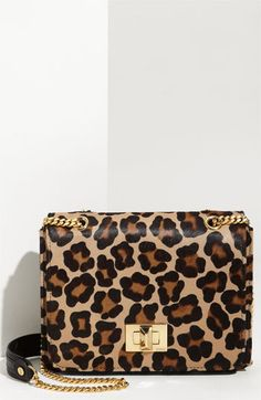 005/Emilio Pucci Leopard Haircalf Shoulder/Handheld Bag