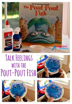 The Pout-Pout Fish: Helping Emotional Children with Big Feelings - Is your toddler or preschooler emotional with big feelings? Talk about feelings and how to handle them with The Pout-Pout Fish and this simple kids craft to go with it from paper plates - Feelings Preschool, Teaching Emotions, Feelings Activities, Preschool Books, Preschool Themes, Preschool Lessons, Feelings And Emotions, Toddler Activities, Preschool Activities
