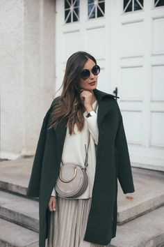 Herbstlook: mint&berry Mantel + EDITED the label Pullover + MANGO Rock + Chloé Pixie Bag