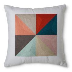 Room Essentials� Square Colorblock Decorative Pillow - Teal