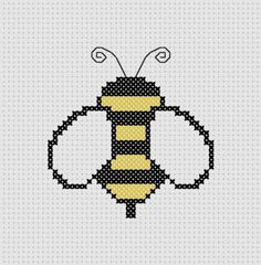 Bumble Bee Cross Stitch Printable PDF Pattern by ThatsSewEllie