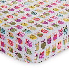 Owls Fitted Sheet 313985374 | Crib Sheets | Baby Girl Bedding | Nursery Room Decor | Baby | Burlington Coat Factory