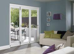 Master 6ft External White Folding Door Set | Vufold