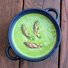 asparagus pepper bisque for National Spinach Day!