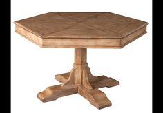 Dining Tables Jupe table self storing leaves, hexagonal shape.