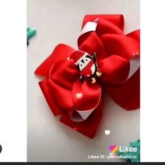 Jewelry Crafts Videos For Girls Handmade Hair Bows, Diy Hair Bows, Making Hair Bows, Ribbon Hair Bows, Diy Bow, Diy Ribbon, Ribbon Crafts, Diy Jewelry With Ribbon, Beaded Crafts