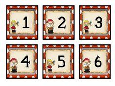 pirate calendar numbers