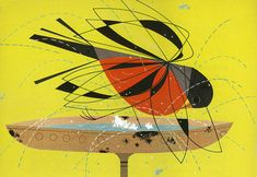 Introducing the exquisite, graphical and witty animal illustrations of Charley Harper ; a gold mine of inspiration in terms of character de. Stone Painting, Illustration, Geometric Bird, Dog Tattoos, Art, Animal Illustration, Cg Art, Bird Art, Art Journal Pages