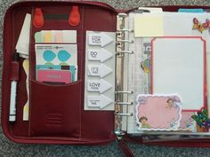 It's My Life!: My Household Filofax.    On the right is a  Martha Stewart Dry Erase Label, I have an erasable pen so I can write quick notes on this, then wipe them off.  It's stuck on a clear plastic flyleaf and is removable too.