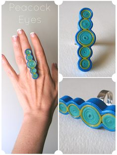 PeacockEyes | quilled paper ring