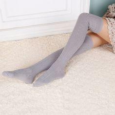 女性ウール編み込みオーバーニーソックス太ももの高値ホースストッキングツイスト暖かい冬