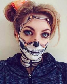 Halloween - Make-up Schminke und Co. Halloween - Make-up Schminke und Amazing Halloween Makeup, Halloween Eyes, Halloween Looks, Scary Makeup, Sfx Makeup, Costume Makeup, Skull Makeup, Horror Make-up, Special Effects Makeup