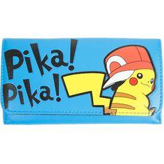 Nintendo Pokemon Pikachu Wallet ($14) ❤ liked on Polyvore featuring bags, wallets, wallet, multi, nintendo wallet, nintendo, ball bag, nintendo bag and blue bag