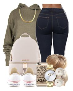 """."" by jaziscomplex ❤ liked on Polyvore featuring Michael Kors, Casetify, Converse, Nixon and Kate Spade"