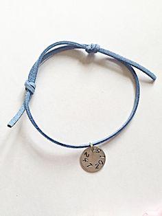 Suede Bracelet  Personalised Bracelet  Adjustable by EmmaFleet