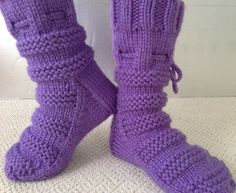 Purple slipper booties