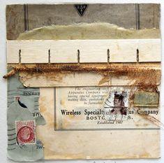 Crystal Neubauer Original OOAK Fine Art 12 x 12 Matted & Framed Collage Mixed Media: UTTERINGS A Wordless Prayer Series