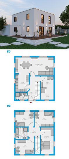 Alea 135 - schlüsselfertiges Massivhaus 2-geschossig #spektralhaus #ingutenwänden #2geschossig #Grundriss #Hausbau #Massivhaus #Steinmassivhaus #Steinhaus #schlüsselfertig #neubau #eigenheim #traumhaus #ausbauhaus