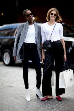On the street at New York Fashion Week. Photo: Imaxtree
