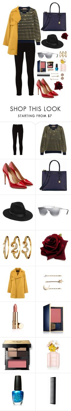 """""""On the street in the city"""" by marcusv ❤ liked on Polyvore featuring Frame, Michael Kors, Salvatore Ferragamo, Lack of Color, Valentino, Barbara Bui, Tasha, Estée Lauder, Bobbi Brown Cosmetics and Marc Jacobs"""
