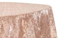Unique 120 Round Gold Sequin Tablecloth