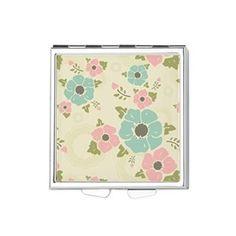 "Nostalgic flowers Square Pill Box Beige seamless vintage pattern ""Nostalgic flowers""  $14.29"