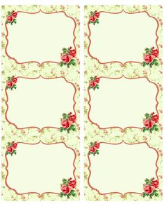 These free gorgeous vintage rose labels in editable PDF templates are designed by Rachel Birdsell of CuriousCrowDigital. Use them for your wedding labels, favor labels, even organizing your pantry. Vintage Tags, Vintage Labels, Vintage Roses, Printable Labels, Printable Paper, Free Printables, Labels Free, Printable Vintage, Diy And Crafts