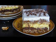 Prăjitura Kinder Bueno, o prăjitură complexă, gustoasă dar și foarte calorică. Ce-i drept, nu poți mânca mai mult de o bucățică nici să vrei, pentru că este Nutella, Tiramisu, Mai, Ethnic Recipes, Desserts, Food, Youtube, Kids, Tailgate Desserts