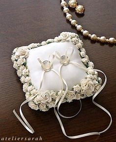 ring pillow Wedding Ring Cushion, Wedding Pillows, Cushion Ring, Wedding Ring Box, Wedding Glasses, Ring Bearer Pillows, Ring Pillows, Lace Ring, Bride Accessories