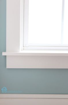 frame windows house window sill How to Install Window Trim Window Sill Decor, Window Ledge, Room Window, Window Casing, Window Trims, Window Sill Trim, White Window Trim, Interior Window Trim, Baseboard Trim