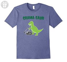 Men's Grama Saur T-REX Shirt for Grandma. Funny Gift for Mother's  XL Heather Blue - Birthday shirts (*Amazon Partner-Link)