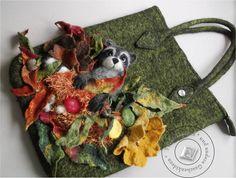 """Handtasche - Tasche gefilzt """"Wald zur Hand V"""" - ein Designerstück von SweetDecor bei DaWanda"""
