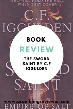 The third in the epic Empire of Salt trilogy by Conn Iggulden, The Sword Saint brings a close to our favourite characters with one final battle. Check out my full book review on the blog today. Fantasy Book Reviews, Fantasy Books To Read, New Fantasy, Fantasy Series, Love Can, Man In Love, Historical Fiction, Book Recommendations, Sword