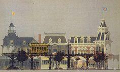 Elevated train, Main Street USA, Disneyland Paris (never built) - Eddie Sotto