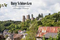 Burg Schönecken – Schönecken, Germany. It's about a 30 minute drive from Spangdahlem, about 1 hour 35 mins from Ramstein.
