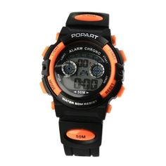 Alike Popart183 Waterproof Digital Analog Quartz Outdoor Boys Mens Sports Watch  Orange -- Want additional info? Click on the image.