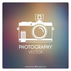 Fotografia ícone Vetor Premium