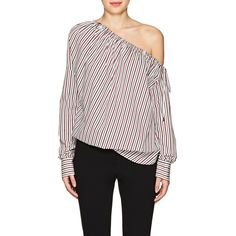 d96150f91fda60 Robert Rodriguez Women s Striped Cotton Off-The-Shoulder Blouse ( 265) ❤  liked