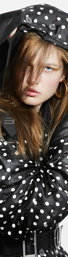Black White Fashion, Black White Red, Dots Fashion, Editorial Fashion, Polka Dots, Glamour, Pretty, 101 Dalmatians, Fashion Today