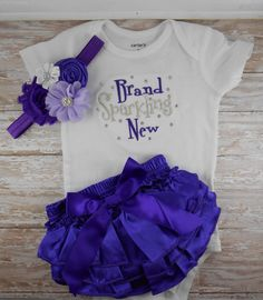 coming home outfit Bling Brand Sparkling New embroidered one piece bodysuit ruffle Bloomer headband set take home newborn hospital outfit by LittleQTCouture on Etsy https://www.etsy.com/listing/176143760/coming-home-outfit-bling-brand-sparkling