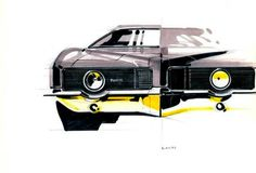 1975 Pontiac Grand Prix Exterior Design Proposal by Geza Loczi