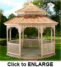 This elegant Amish Built Gazebo has a custom Roof design that will bring everyone to a standstill who lay their eyes on it. Porch Gazebo, Pergola, Cedar Shake Shingles, Green Play, Outdoor Living, Outdoor Decor, Outdoor Ideas, Cubby Houses, Roof Design