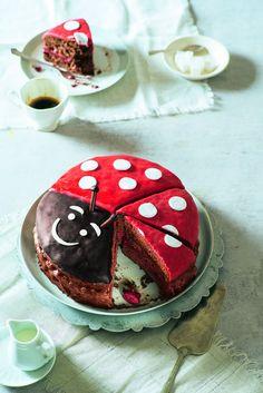 The post Funny ladybug cake. appeared first on cake recipes. Baking Recipes, Cake Recipes, Dessert Recipes, Dessert Halloween, Chocolate Sponge Cake, Bon Dessert, Chocolate Cherry, Chocolate Art, Cata