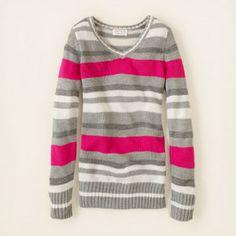 (Maya: Size 7/8) striped v-neck sweater  20% off coupon code: V3JR6GH192