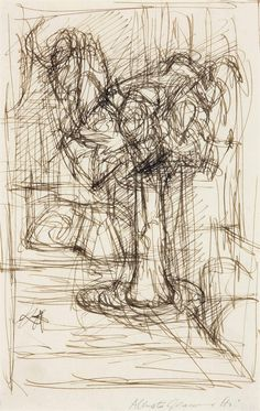 Bouquet de fleurs by Alberto Giacometti. Pen and ink on paper. Alberto Giacometti, Gesture Drawing, Line Drawing, Drawing Sketches, Drawings, Structural Drawing, Conceptual Drawing, Italian Paintings, Still Life Drawing