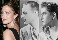 Drew, (her grandfather) John Barrymore, and (her father) John Drew Barrymore. Hollywood Couples, Old Hollywood Stars, Hollywood Icons, Golden Age Of Hollywood, Classic Hollywood, Vintage Hollywood, John Drew Barrymore, Barrymore Family, Celebrities Then And Now