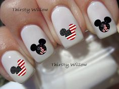 Disney Mickey Mouse July 4th Nail Decals