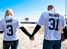 Sports Themed Save The Dates