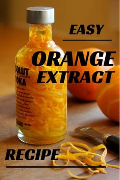 Quick and easy homemade Orange or lemon extract makes a great gift for the cook or bartender in your life. Orange Extract Recipes, Lemon Extract, Homemade Vanilla Extract, Orange Recipes Easy, Orange Recipes Baking, Vanilla Recipes, Homemade Spices, Homemade Seasonings, Vegan Recipes